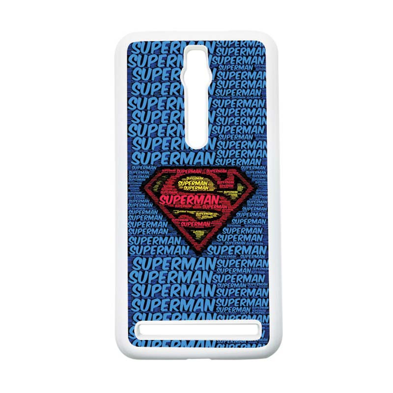 Heavencase Superman 12 Hardcase Casing for Asus Zenfone 2 ZE551ML or ZE550ML - Putih