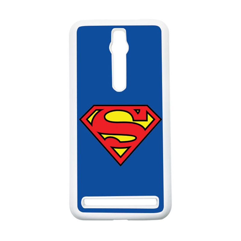 Heavencase Superman 13 Hardcase Casing for Asus Zenfone 2 ZE551ML or ZE550ML - Putih