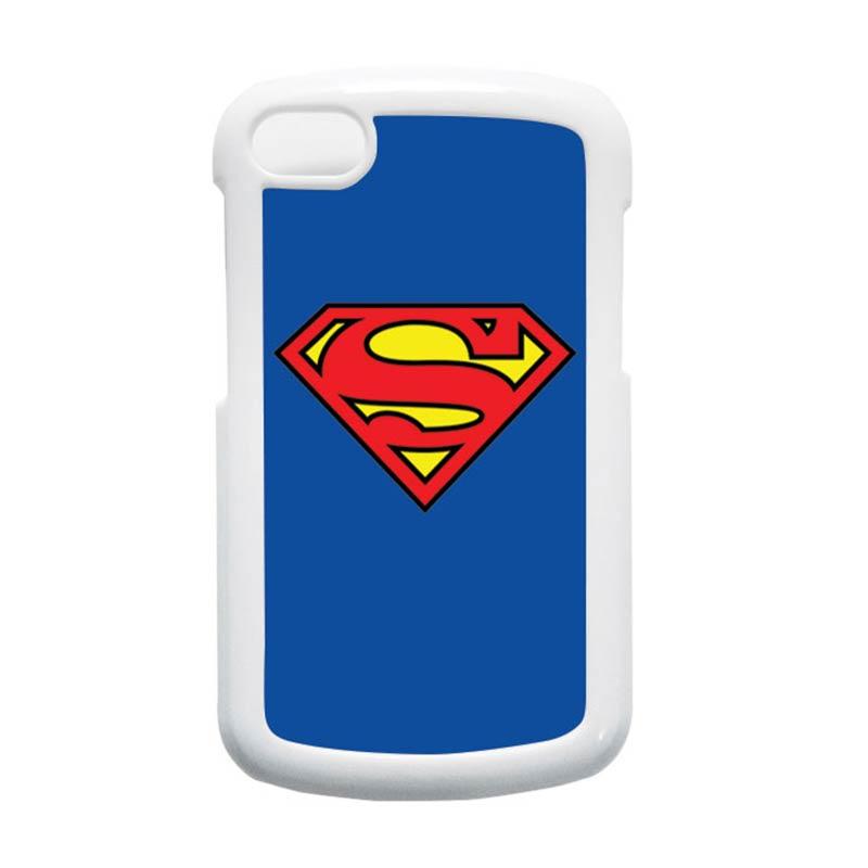 HEAVENCASE Superman 13 Putih Hardcase Casing for Blackberry Q10
