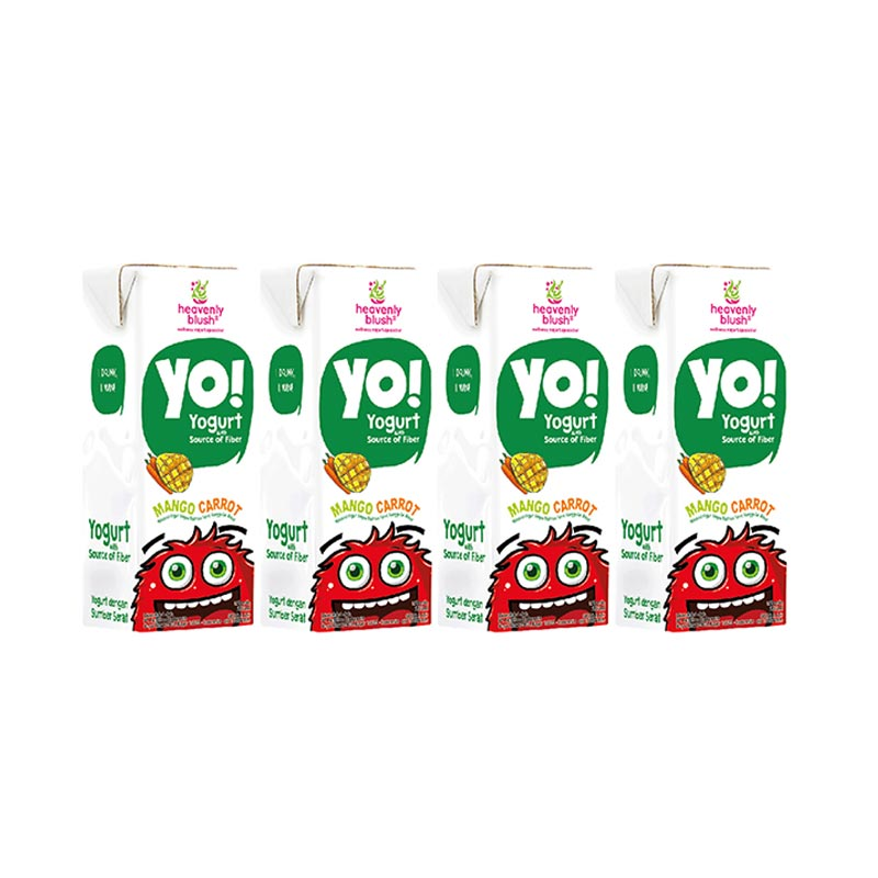 harga Groceries - Heavenly Blush Yogurt Yo! Mango Carrot [4Pcs/200ml] Blibli.com