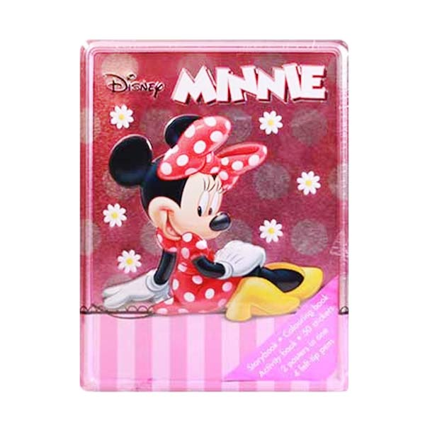 harga HelloPandaBooks Happy Tin Disney Minnie Mouse Activity Box Set [Storybook/Colouring Book/Activity Book/50 Stickers/2 Posters in 1/4 Felt-Tip Pens] Blibli.com