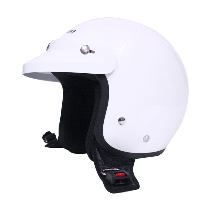 Cargloss CF Retro Army White Gotic Helm Half Face