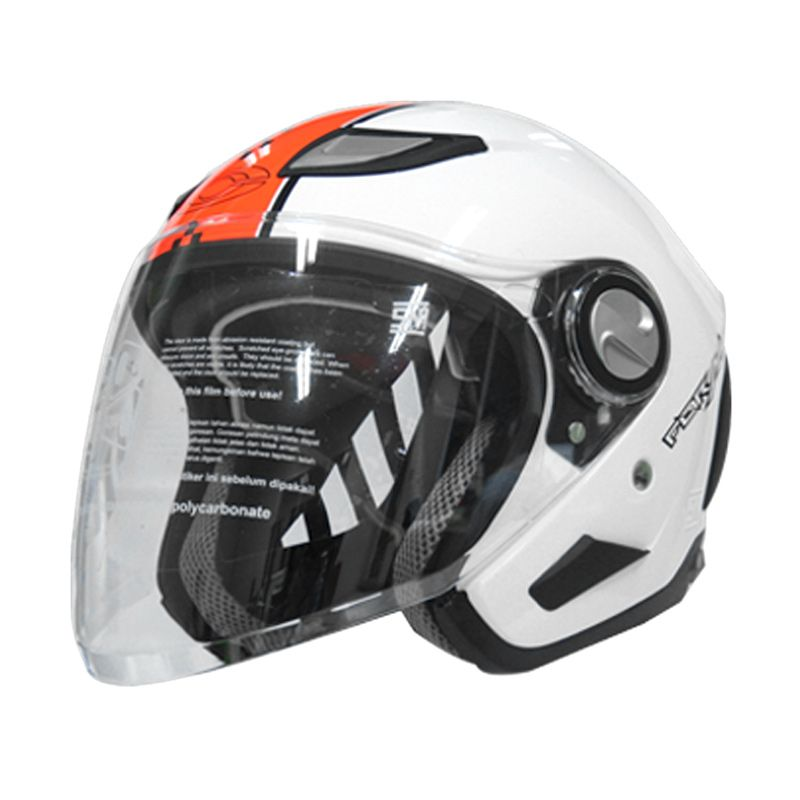 Cargloss Former of Retro Flo Orange White Helm Half Face size M