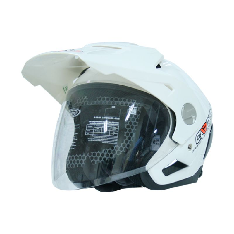 Cargloss AHRS Former Solid SP White Helm Half Face