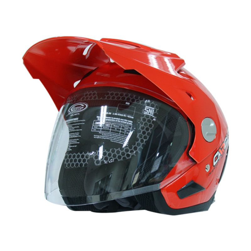 Cargloss AHRS Former Solid Vivid Orange Helm Half Face