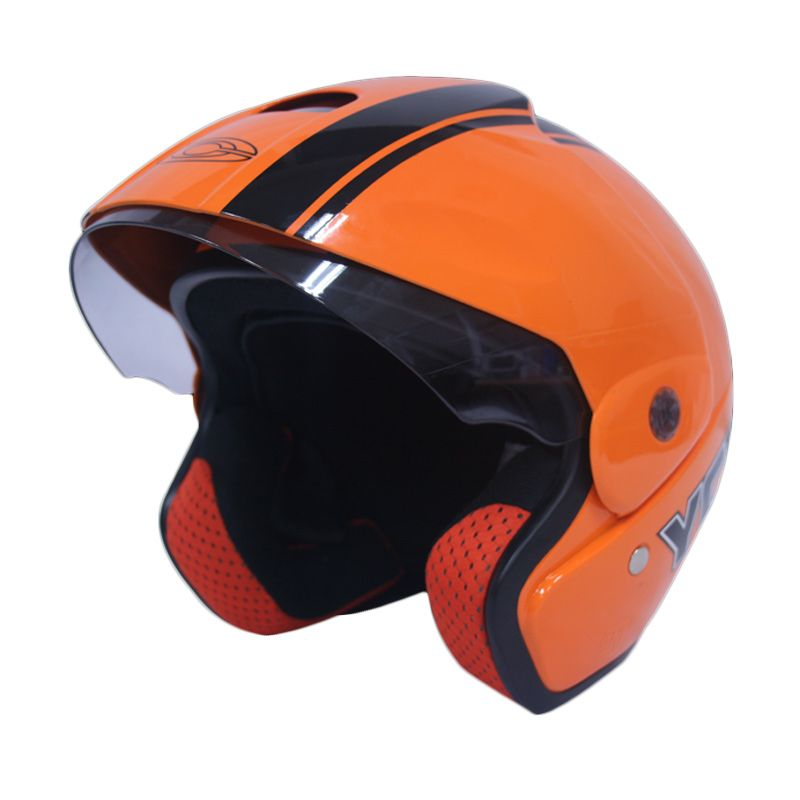 Cargloss YCB Line Two Black Nitric Orange Helm Half Face