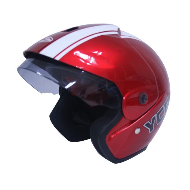 Cargloss YCB Line Two White Deep Red Helm Open Face