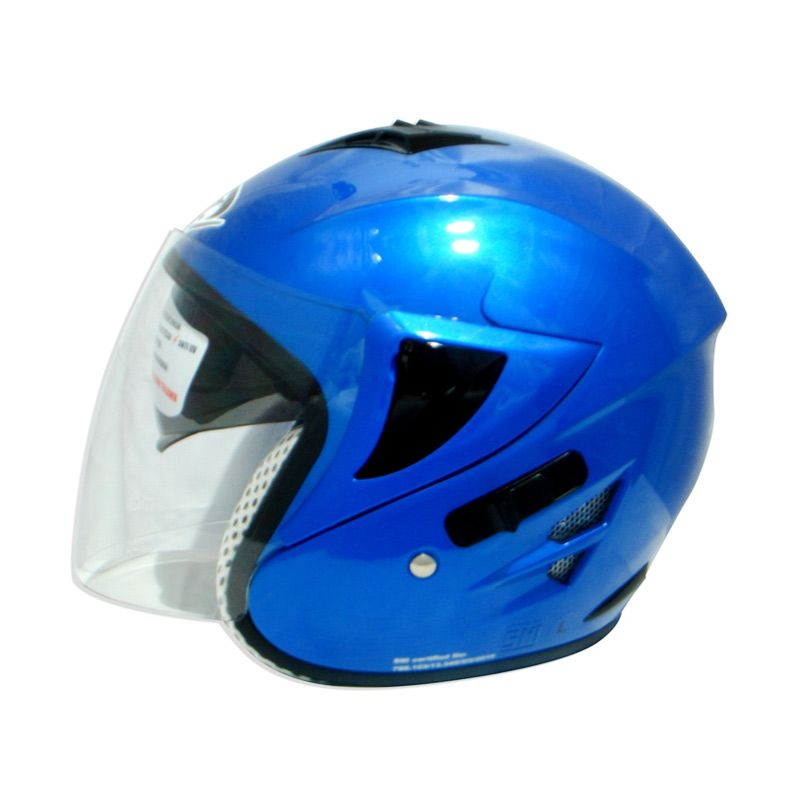 FOZ Voltus Solid Macho Blue L Helm Half Face