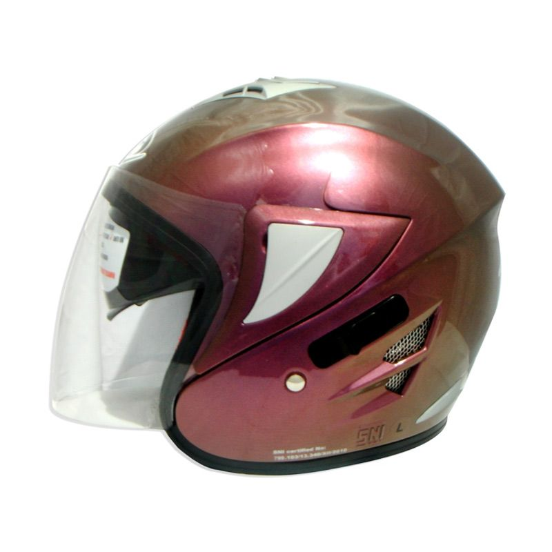 FOZ Voltus Solid New Purple L Helm Half Face