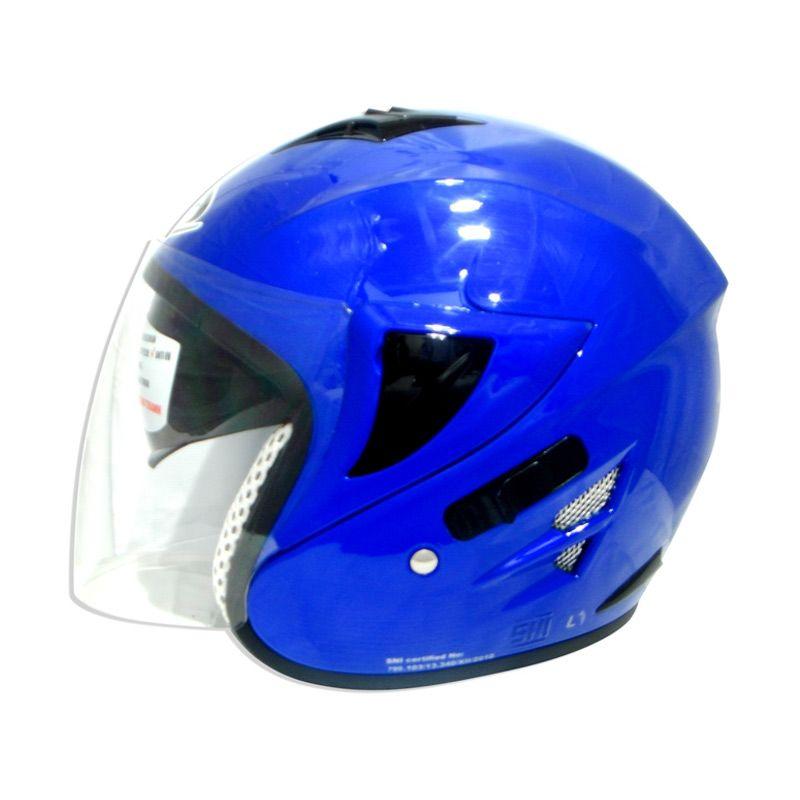 harga FOZ Voltus Solid Royal Blue L Helm Half Face Blibli.com