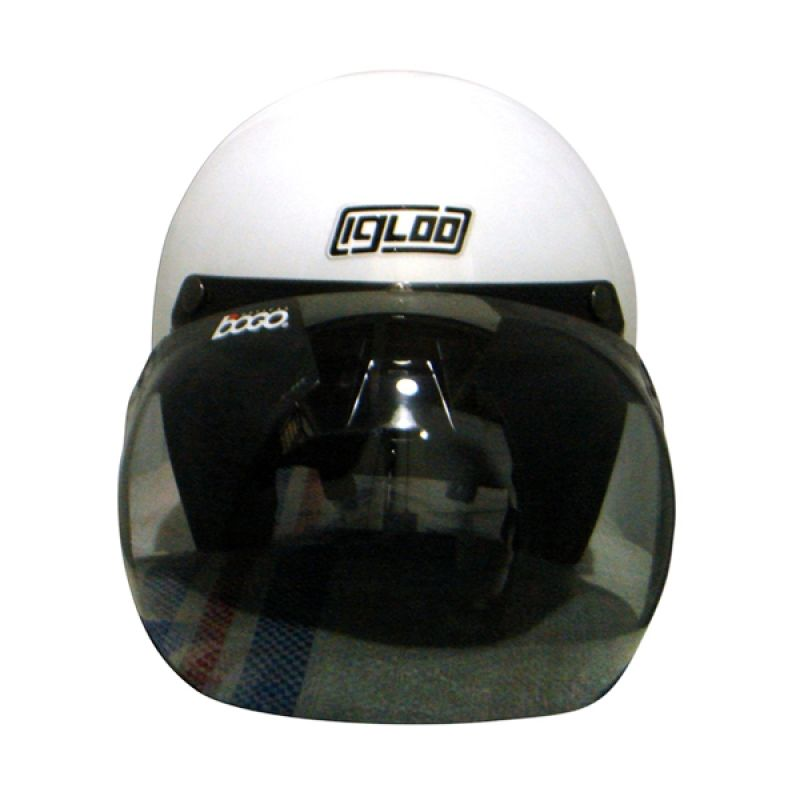 IGLOO Retro Solid White Helm Half Face