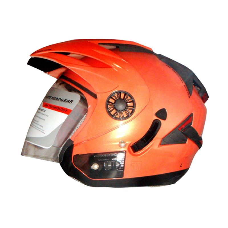ORCA Spider Solid Peach Helm Half Face