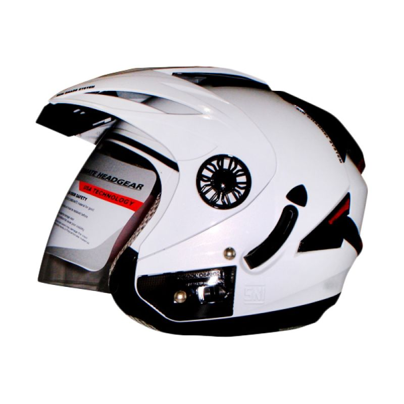 ORCA Spider Solid White Helm Half Face