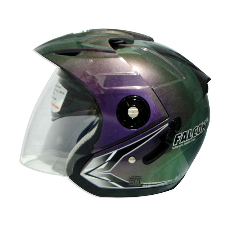 OXY Falcon XR Solid 3Tone Helm Half Face