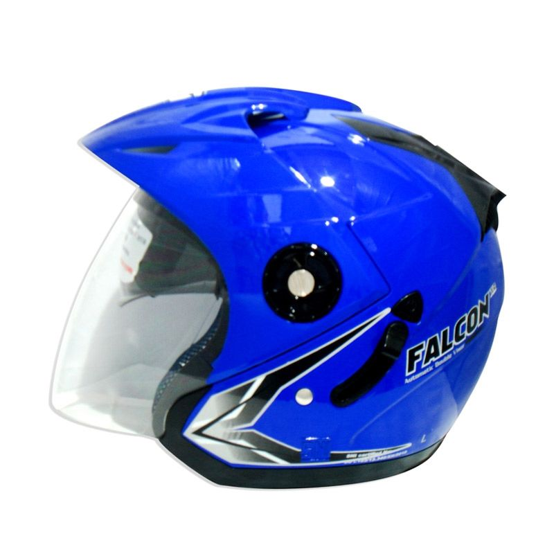 OXY Falcon XR Solid Royal Blue Helm Half Face