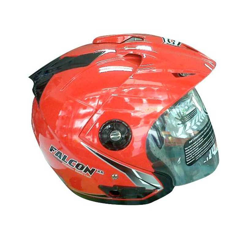 OXY Helm 2 Kaca Half Face Falcon XR Solid (Red) (L)