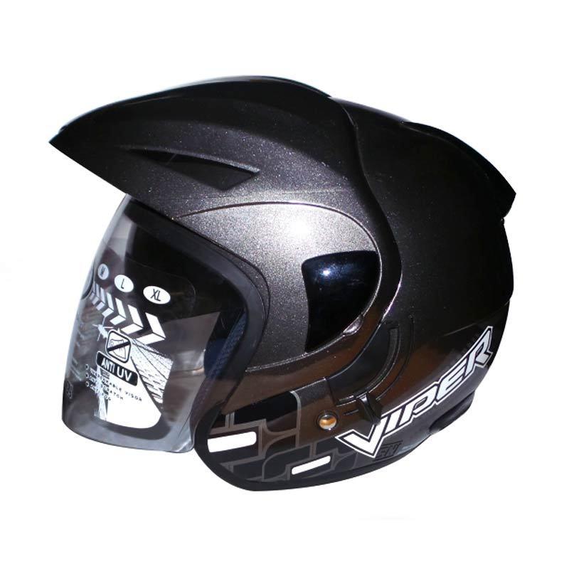 OXY Helm 2 Kaca Half Face Viper Solid (Gunmet) M