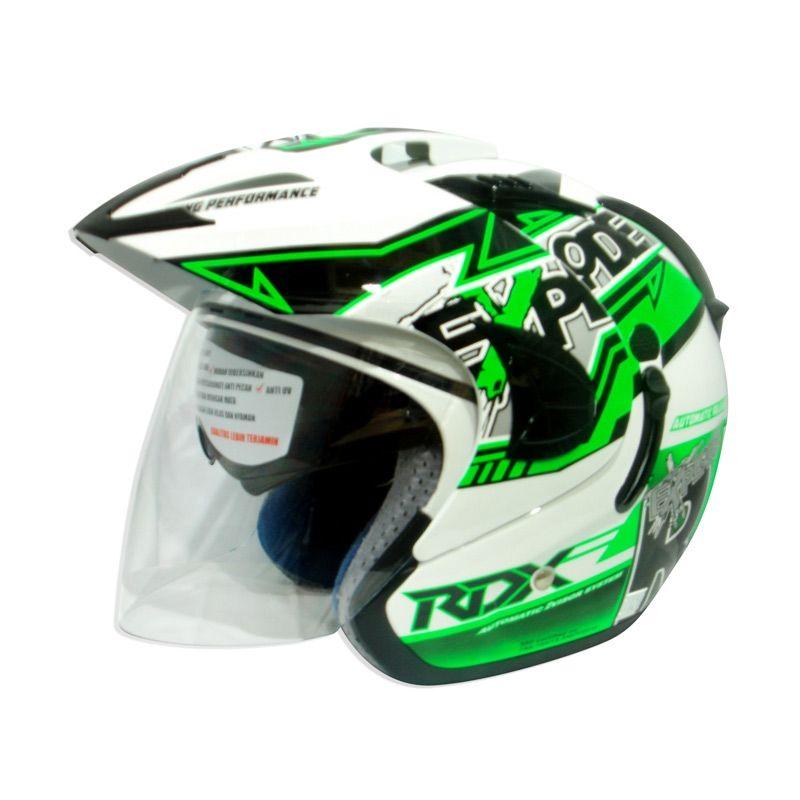 RDX Explode V2 Grafis Rider White Green L Helm Half Face