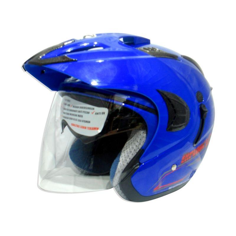 RDX Explode V2 Solid Royal Blue Helm Half Face