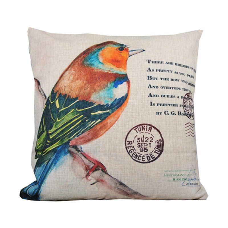 Hermosa Bird 283 Krem Bantal Sofa [45 x 45 cm]