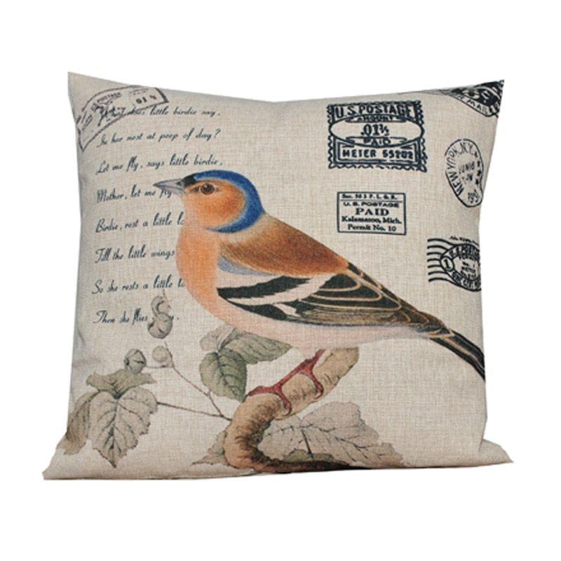 Hermosa Bird 285 Krem Bantal Sofa [45 x 45 cm]