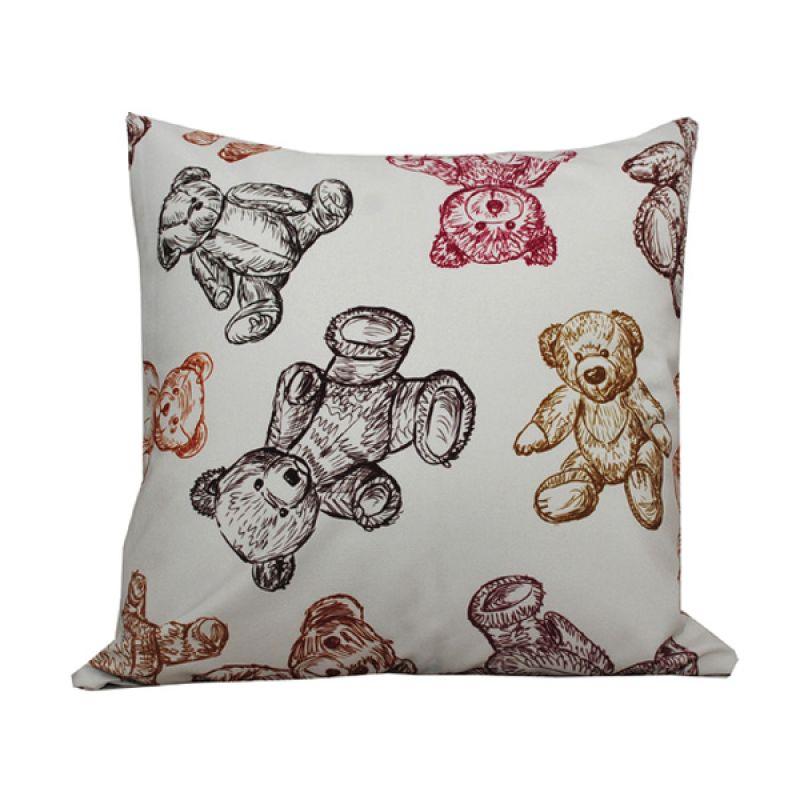 Hermosa Kids Bear Doll Putih Bantal Sofa [40 x 40 cm]