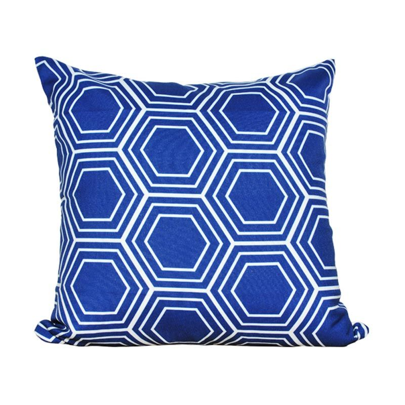 Hermosa Octagon Blue Bantal Sofa [40 x 40 cm]