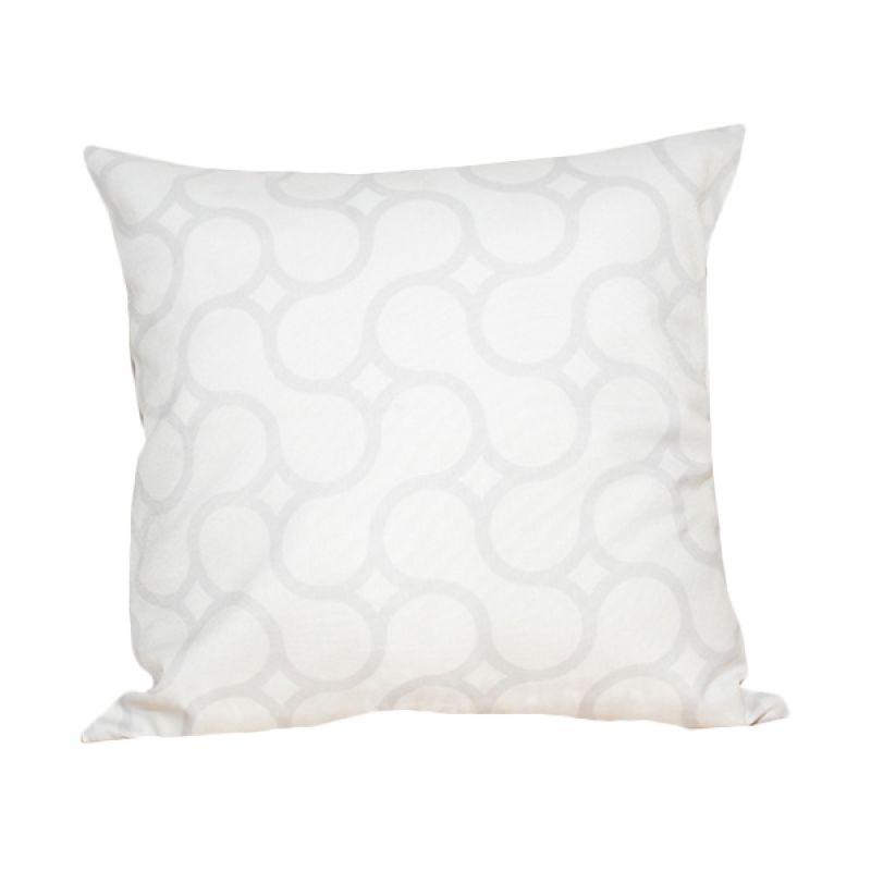 Hermosa Octagon White Bantal Sofa [40 x 40 cm]