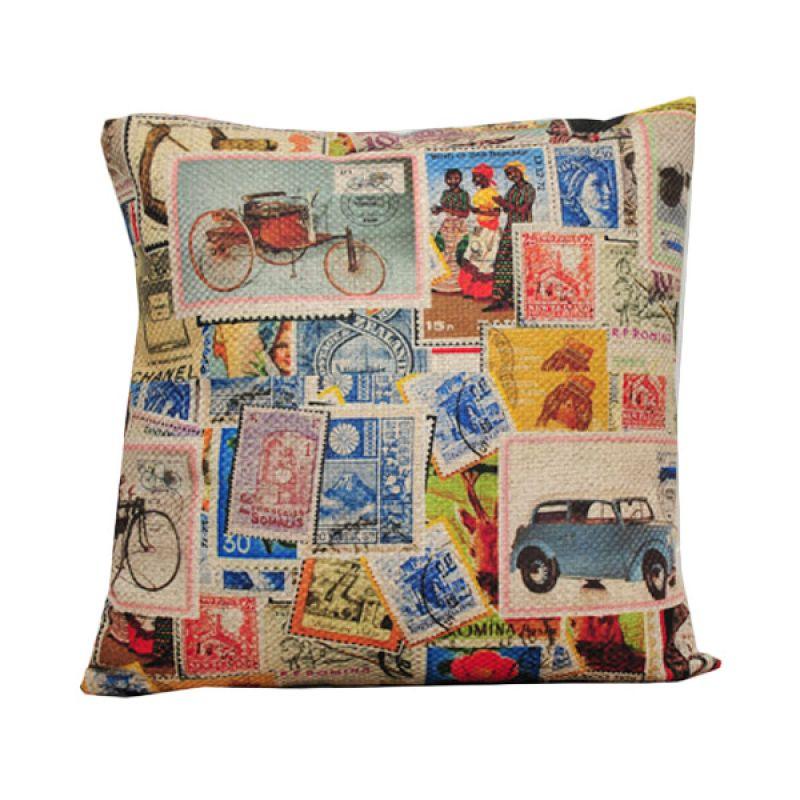 Hermosa Post Stamp Bantal Sofa [40 x 40 cm]