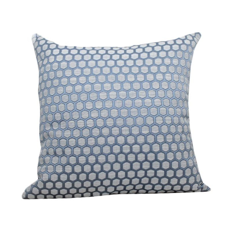Hermosa Small Octagon Blue Bantal Sofa [40 x 40 cm]