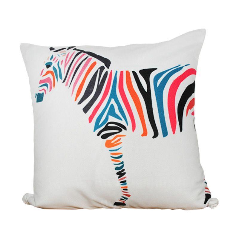 Hermosa Zebra Multicolor Bantal Sofa [40 x 40 cm]