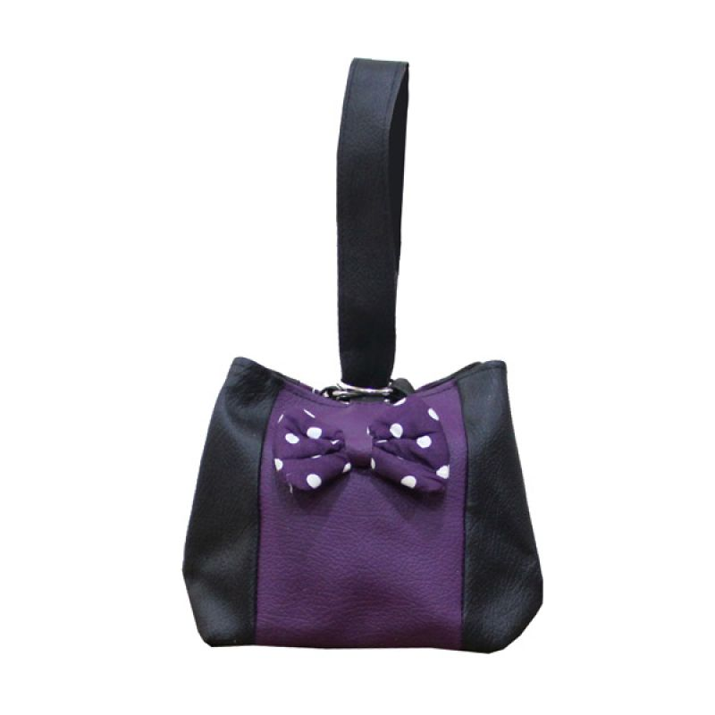 Hers Black Purple Rope Pouch