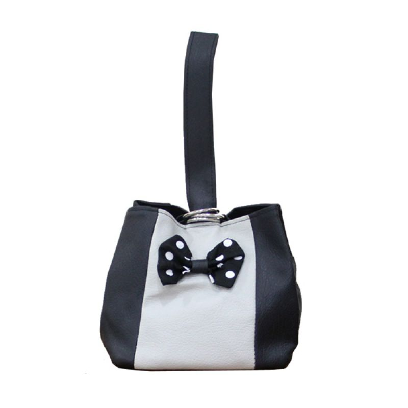 Hers Black White Rope Pouch
