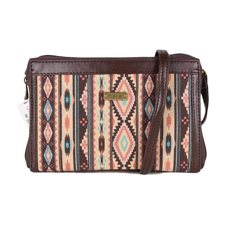 Hers Bag Tribal Motif Clutch Multifungsi HER903
