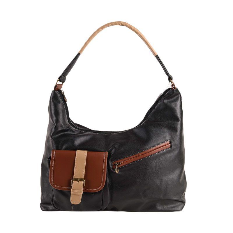 Hers Bags Azalia Simple Black Hand Bag HER813