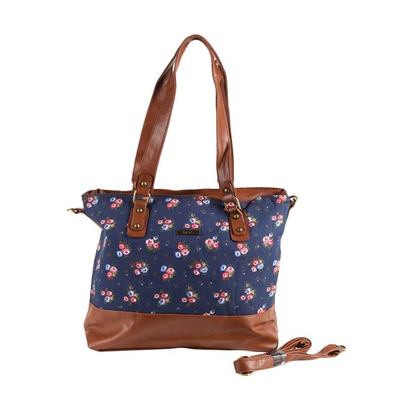 Hers Bags Floral ID048 Biru Tua Tote Bag