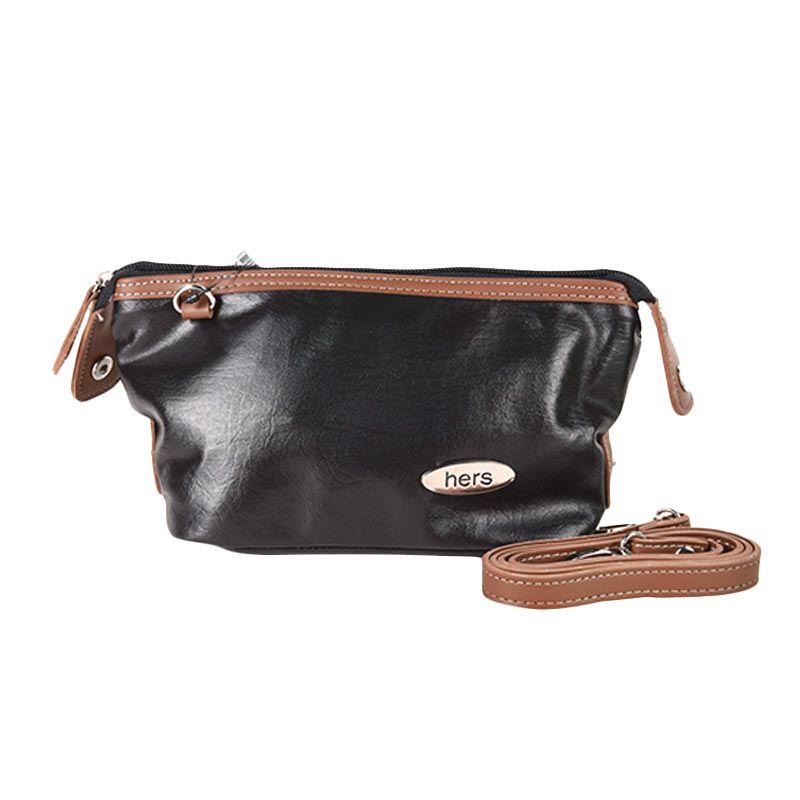 Hers Bags Small Tarania HER743 Hitam Tas Selempang Wanita