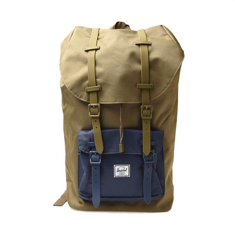 Herschel 10014-00755-OS Littel America Poly Rubbr Army Navy Backpack