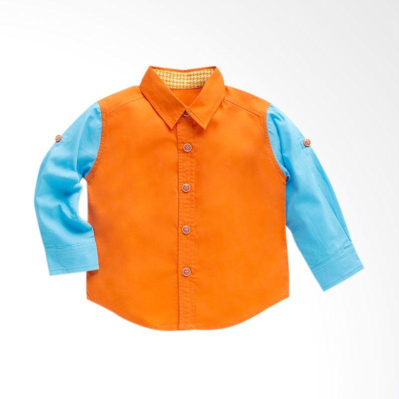 Heyboy Henry Orange Kemeja Anak Laki-Laki
