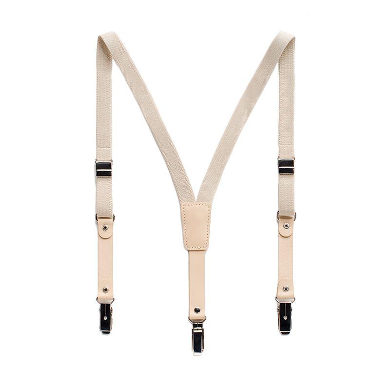 Heyboy Leather Cream Suspender Anak