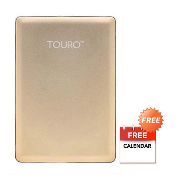 HGST Hitachi Touro S 1 TB Gold Hard Disk Eksternal + Kalender