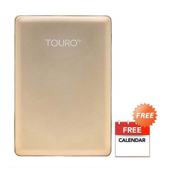 HGST Hitachi Touro S Gold Hard Disk Eksternal [500 GB]+ Kalender