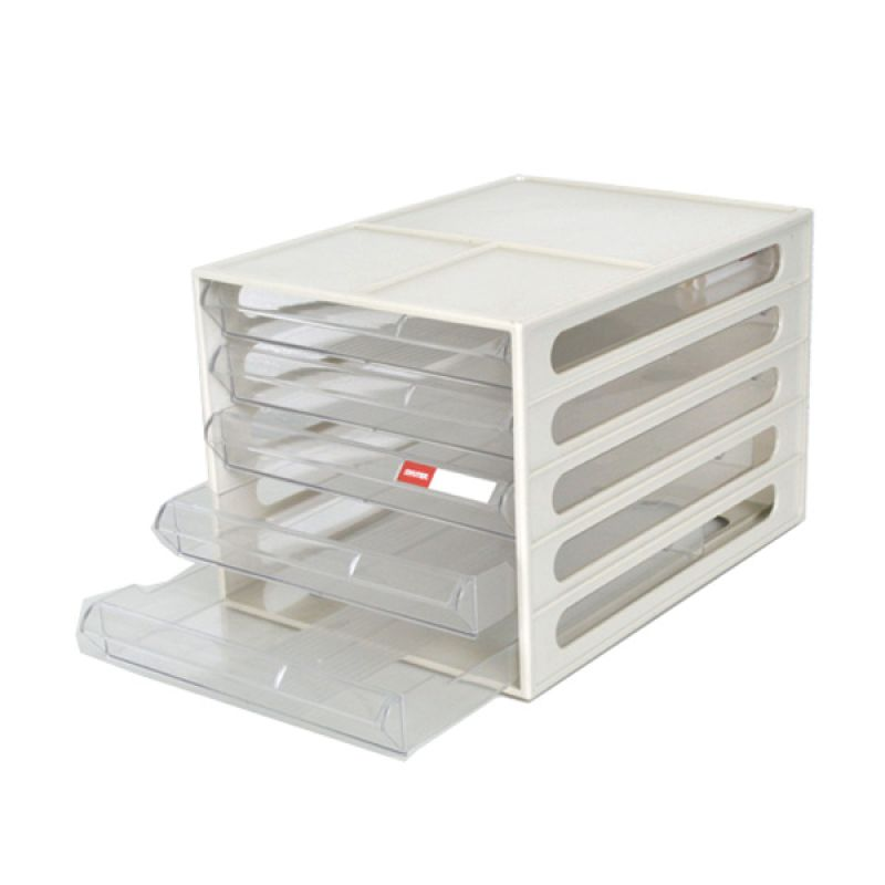 Shutter Desktop File Cabinet (5 Drawers)