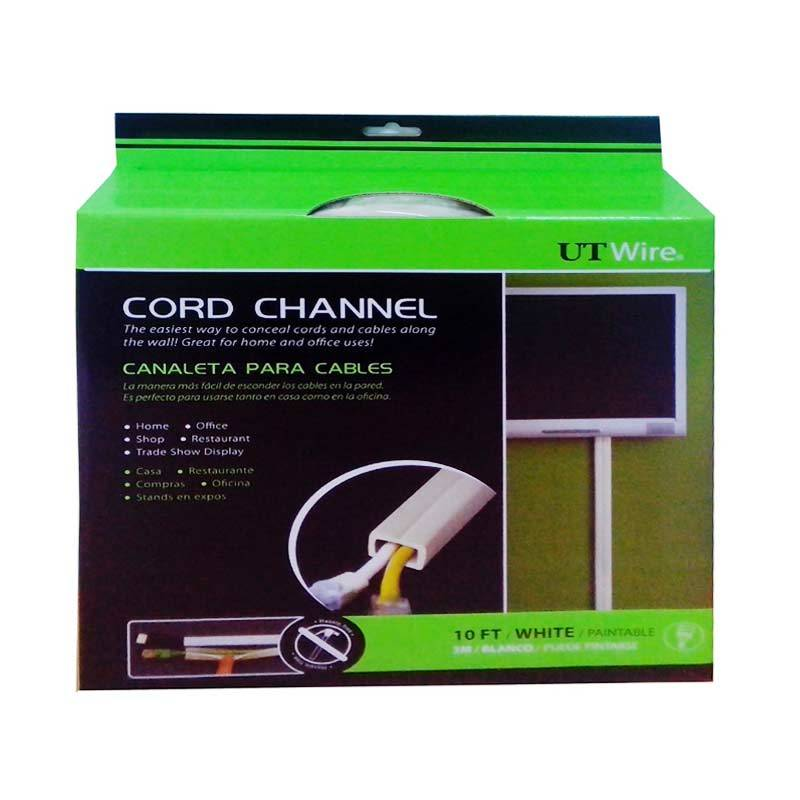 UT Wire Cord Channel (White) 3 M