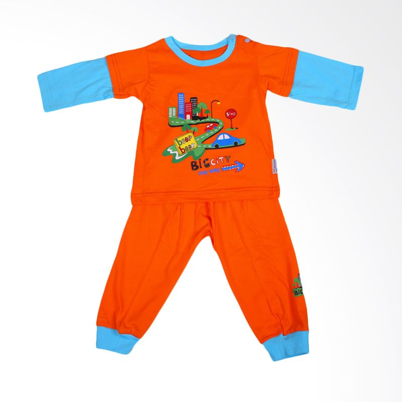 Dessan Big City Orange Jumpsuit Bayi