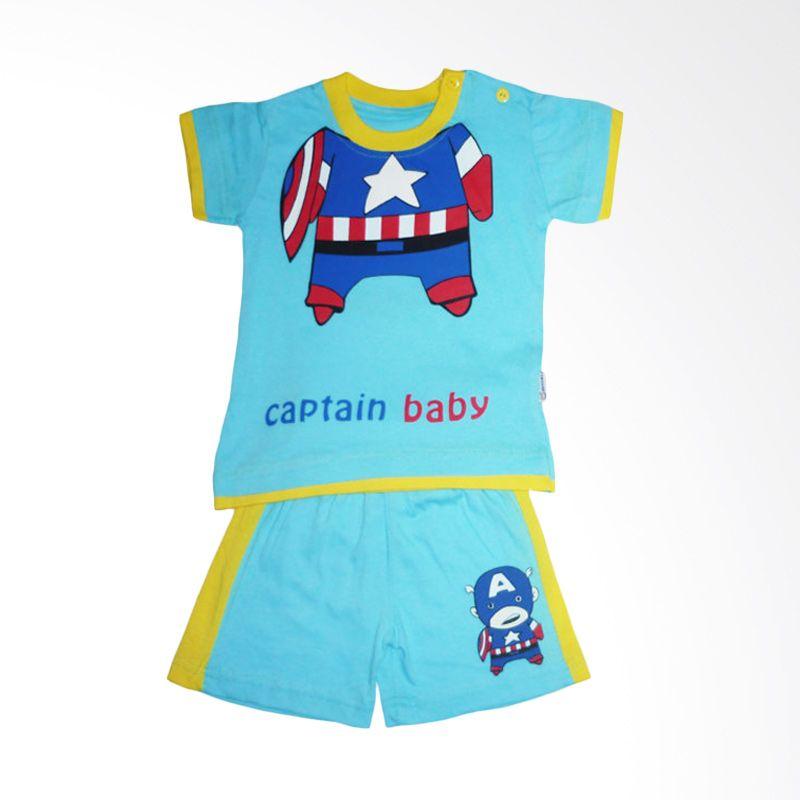 Dessan Himawari Captain Baby Biru Setelan Anak Laki-Laki