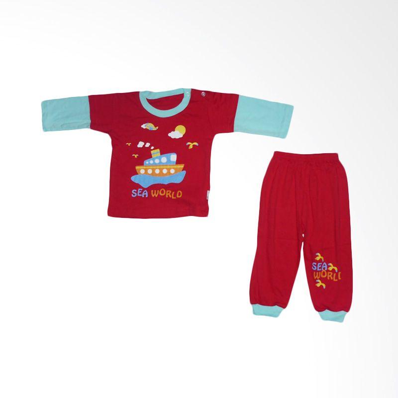 Dessan Sea World Merah Setelan Baju Tidur Anak