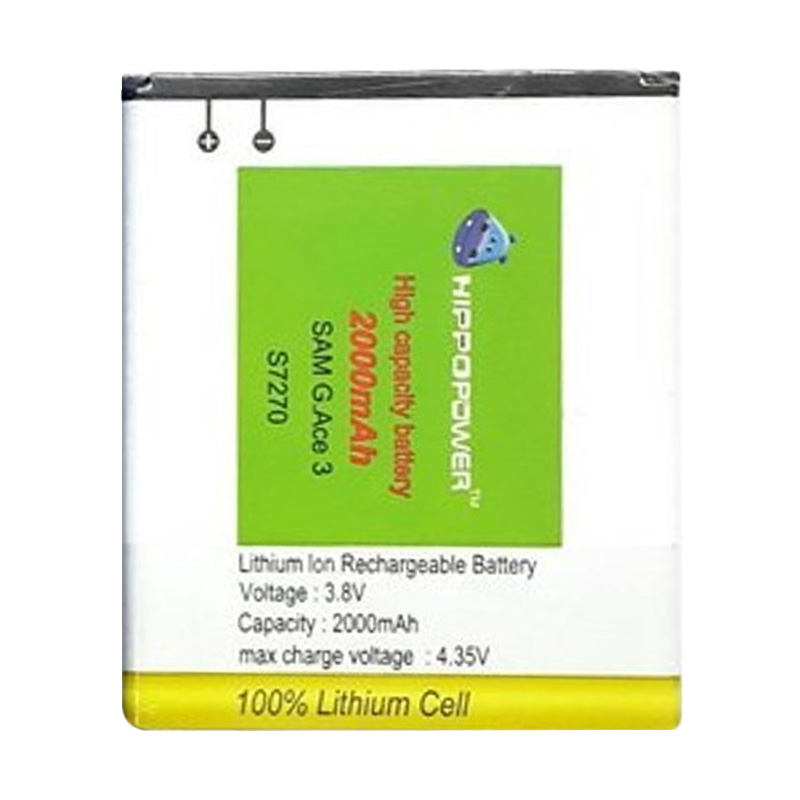 Hippo Battery For Samsung Ace 3 S7270 [2000 mAh]