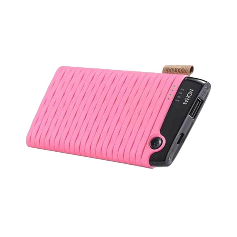 HIPPO Noha1 Simple Pack Pink Powerbank [7000 mAh]