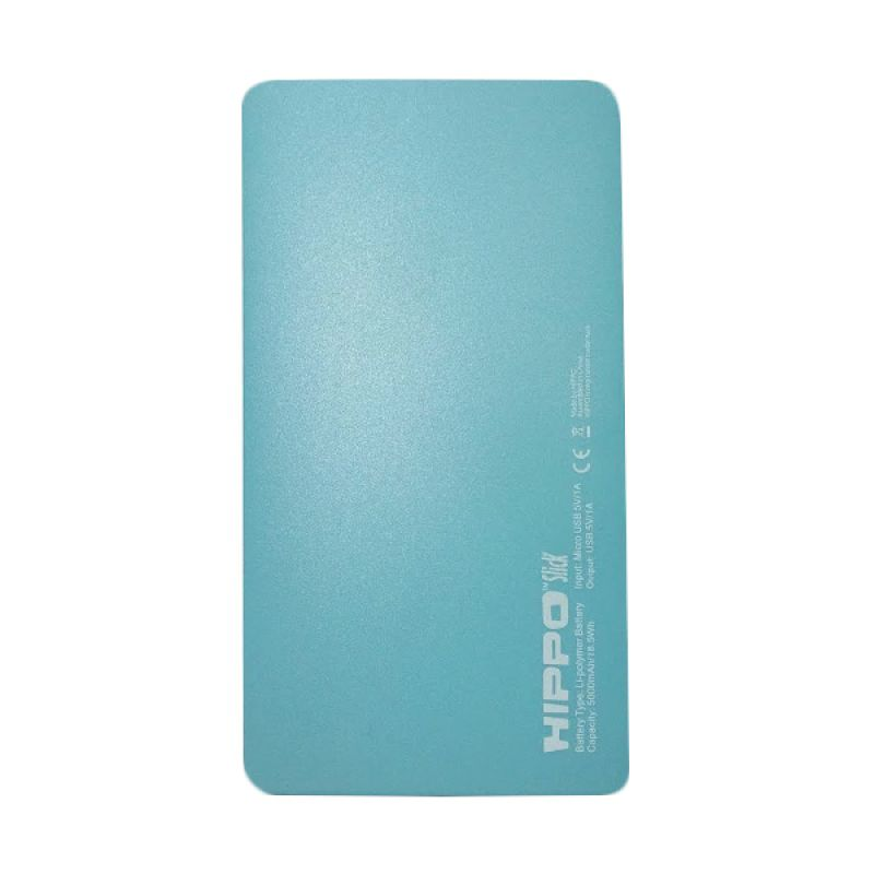 Hippo Slick Powerbank - Biru [5000mAh]